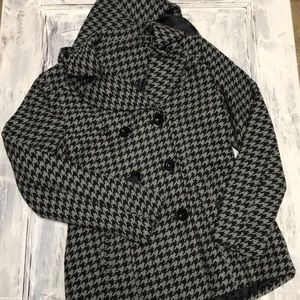 Jackets & Blazers - Houndstooth Double Breasted Jacket